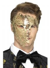 Gold Metal Filigree Eyemask